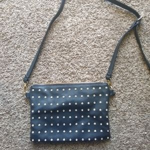 Charming Charlie Cross-Body studded black purse